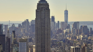 Empire State Building, foceno z Rockefellerova centra, New York, USA