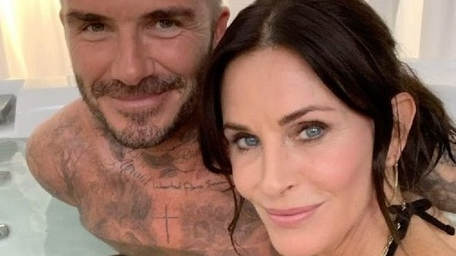 Courteney Cox a David Beckham